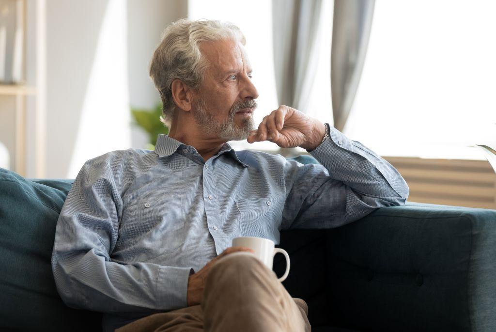 Pensive Older Man